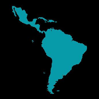 Latin-America map